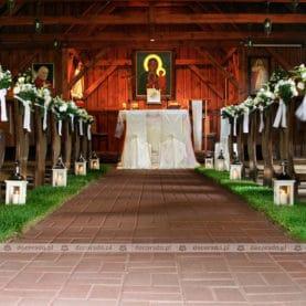 Dekoracja kościoła w naturalnym stylu