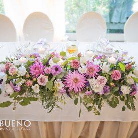 Dekoracja stołu prezydialnego – Sala Parkowa Pałac Wąsowo