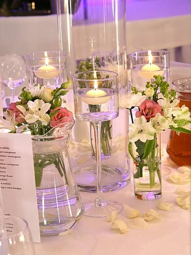 Wesele w blasku świec – dekoracja sali w Hotelu Remes