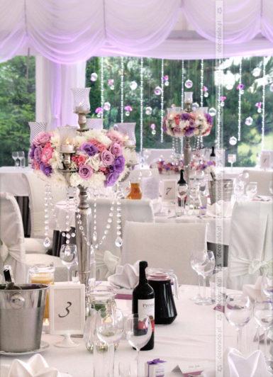 Dekoracja ślubna w stylu glamour Solei